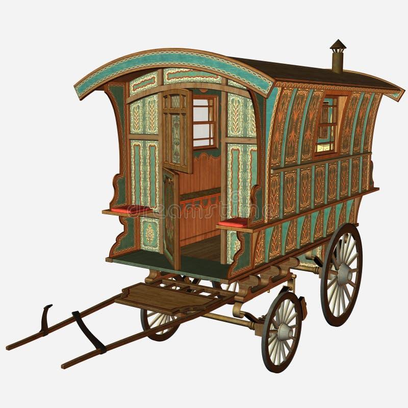 Vieux chariot illustration de vecteur