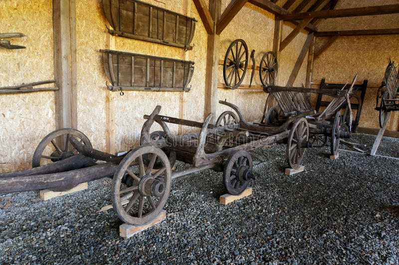 Vieux chariot images libres de droits