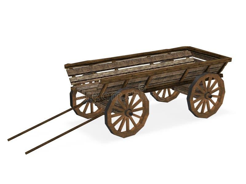 Vieux chariot illustration stock