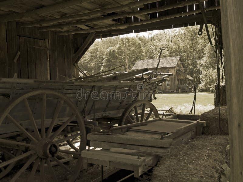 Vieux chariot de ferme photos libres de droits