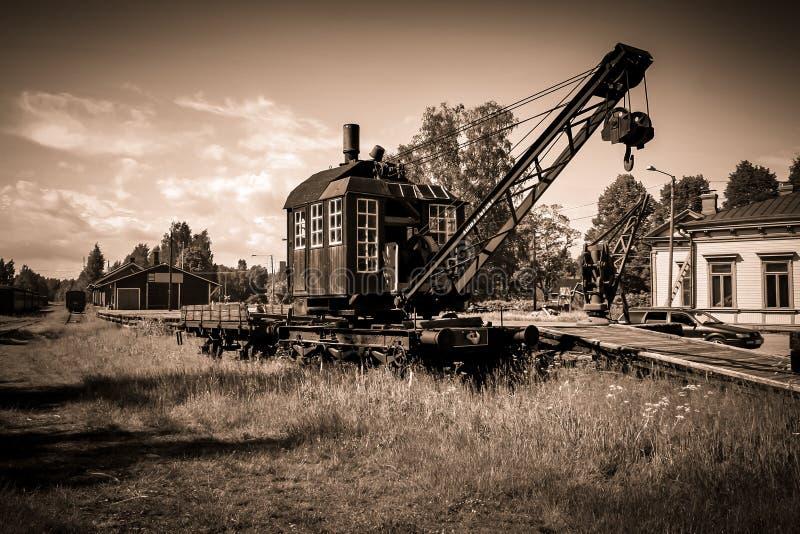 Vieux chariot de grue image stock