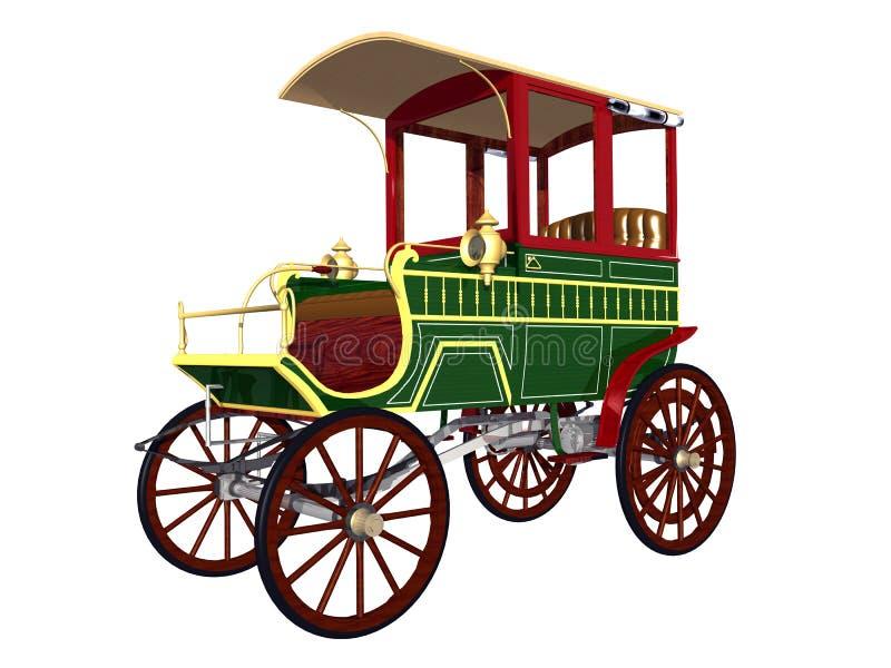 Vieux chariot de station illustration stock