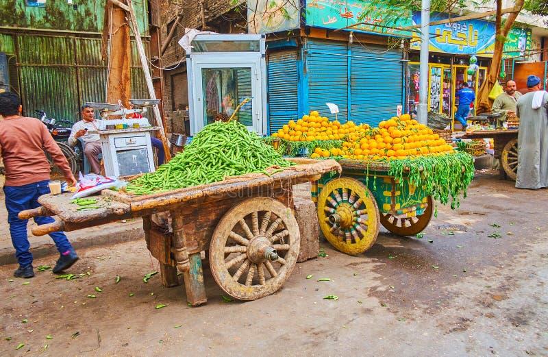 Vieux chariots sur le marché du Caire, Egypte photos libres de droits