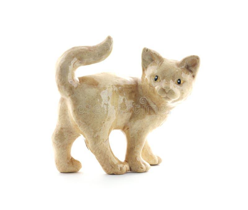 Vieux chat en céramique photo libre de droits