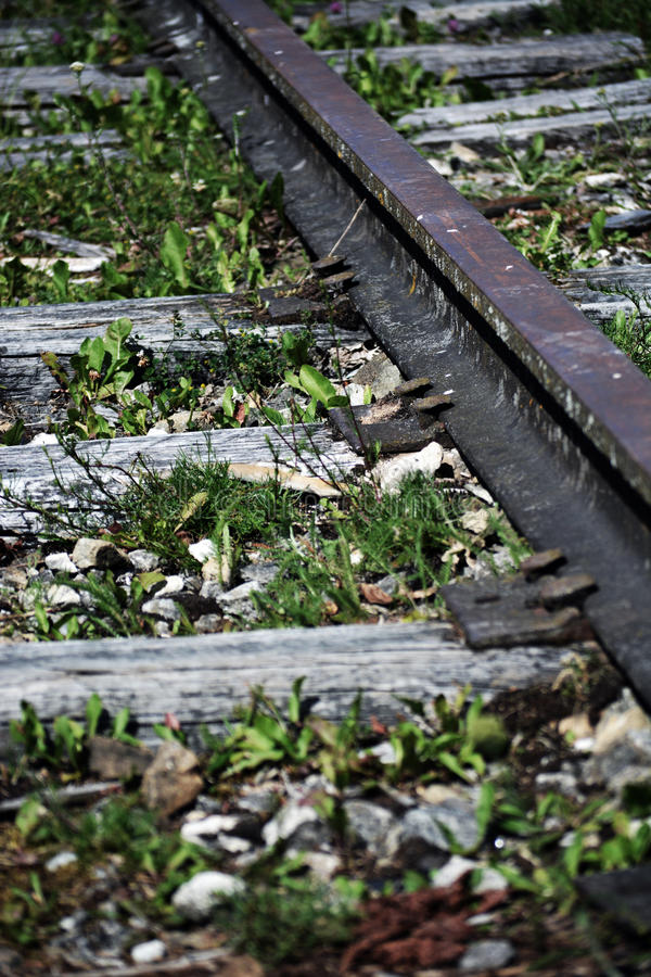 Vieux chemin de fer images libres de droits