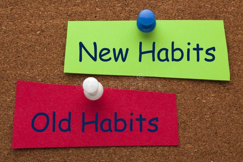 Vieux choix d'habitudes de nouvelles habitudes photos stock