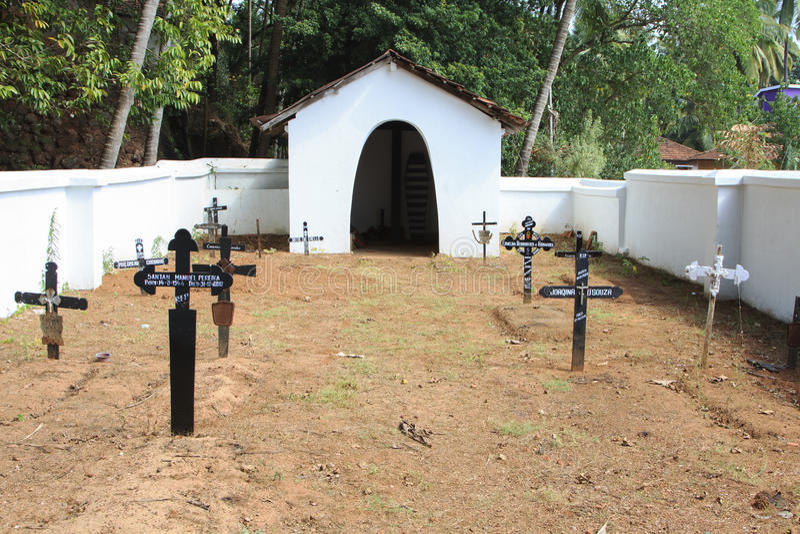 Vieux cimetière dans Goa photos libres de droits