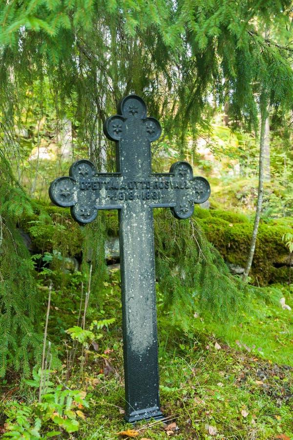 Vieux cimetière de famille de Wrede 18 septembre 2018 - Anjala, Kouvola, Finlande photo libre de droits
