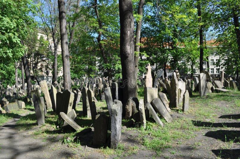 Vieux cimetière juif, Prague, République Tchèque photos stock