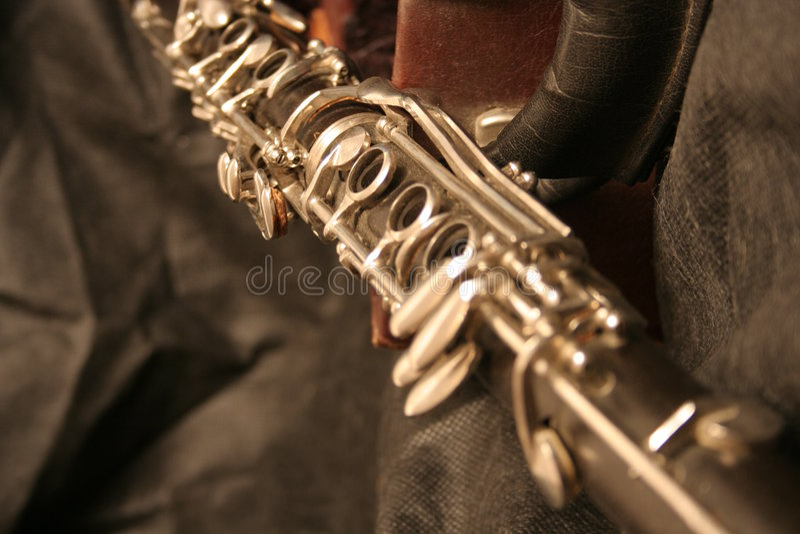 Vieux clarinet-2 images stock