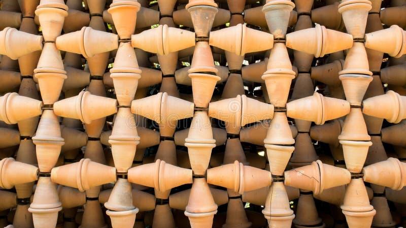 Vieux Clay Flowerpot Connected Pattern grunge utilisé comme texture de fond images stock