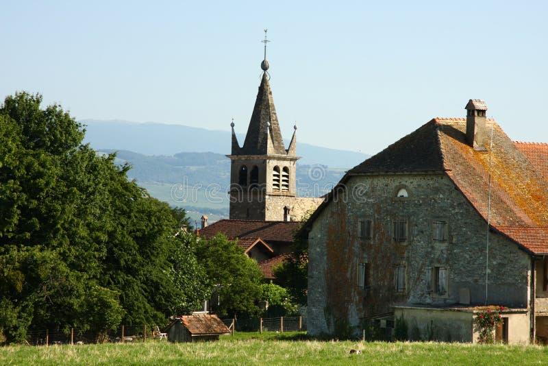 Vieux clocher d'église images libres de droits