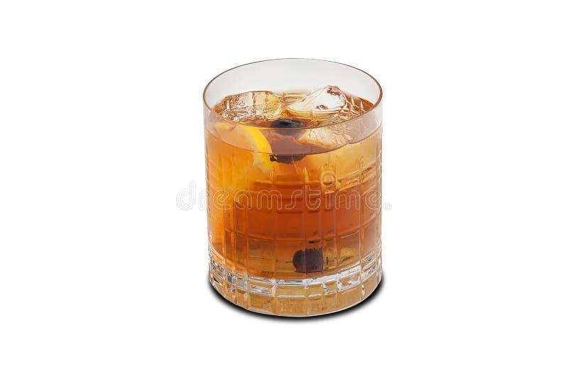 Vieux cocktail de mode d'isolement sur le fond blanc photos stock