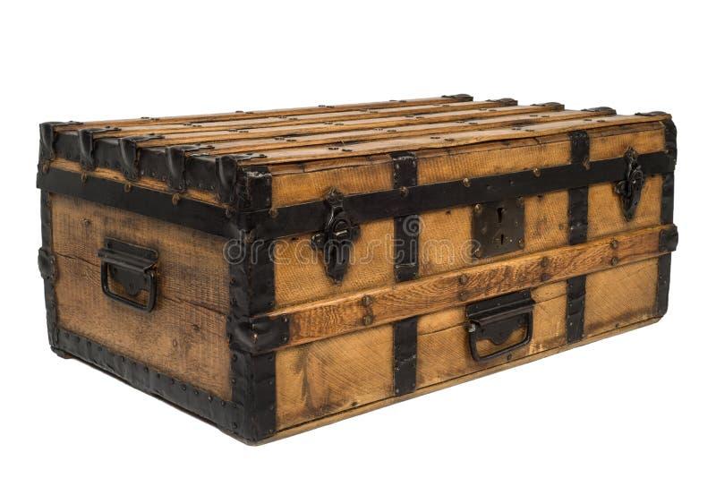 Vieux coffre en bois image stock