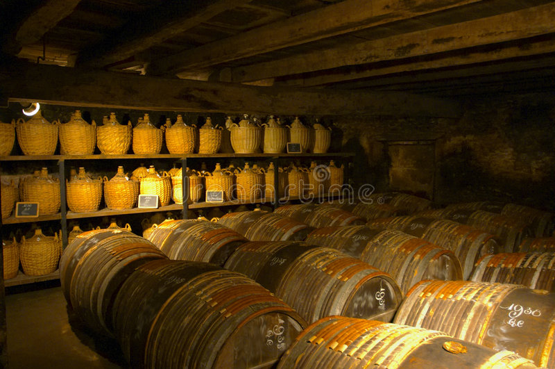 Vieux cognac. Cognac, France. photographie stock