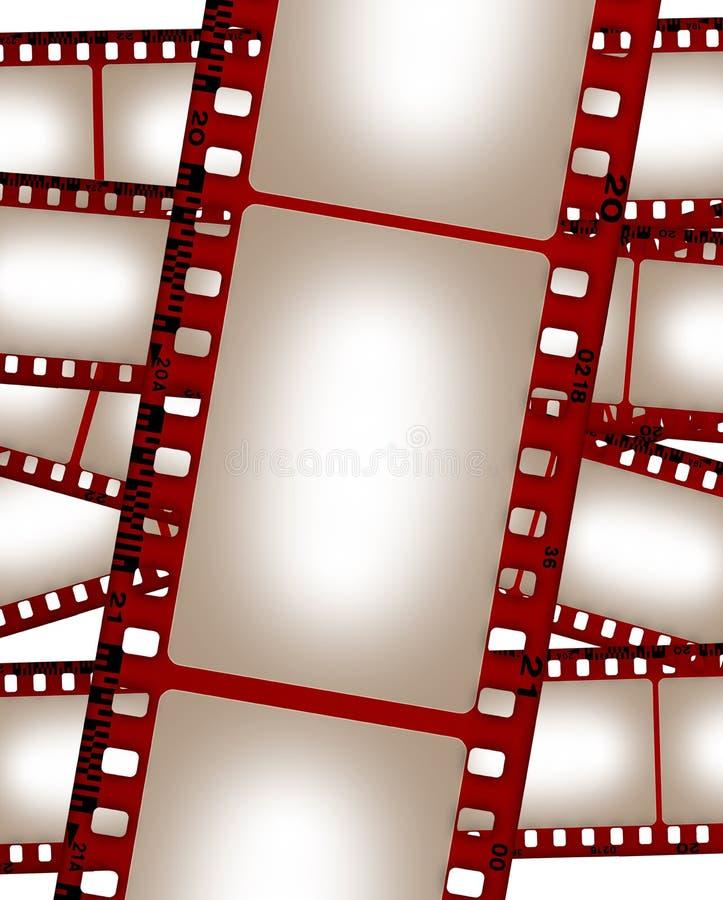 Vieux collage grunge de film illustration de vecteur