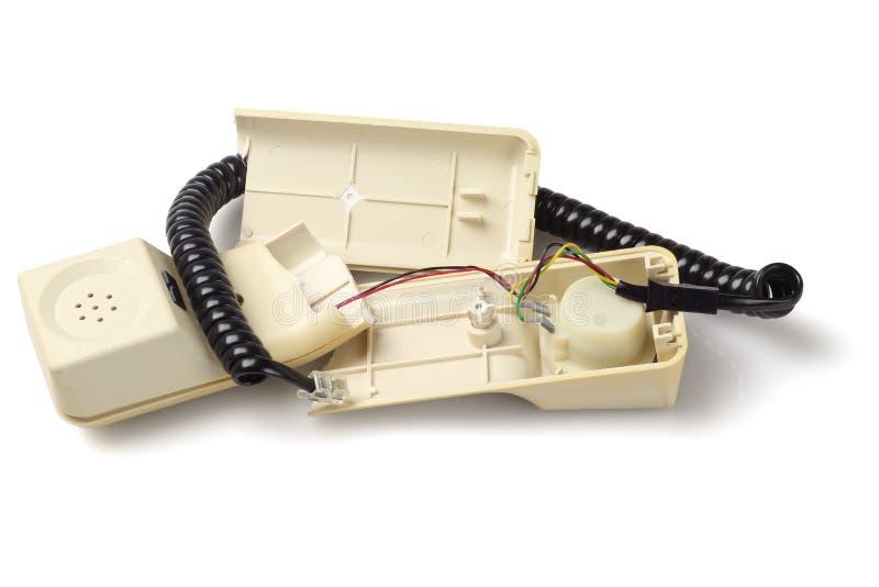 vieux combin de t l phone cass image stock image du t l phone c ble 61214163. Black Bedroom Furniture Sets. Home Design Ideas