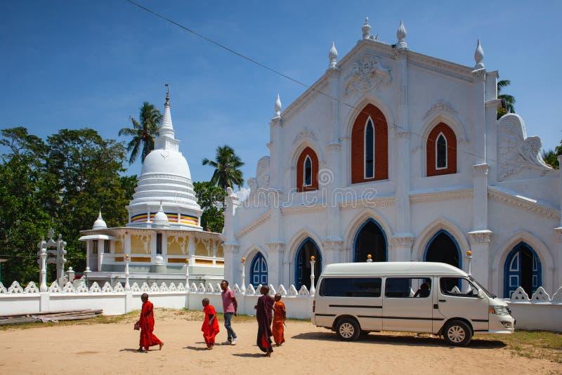 Vieux complexe de temple bouddhiste, Sri Lanka photo libre de droits