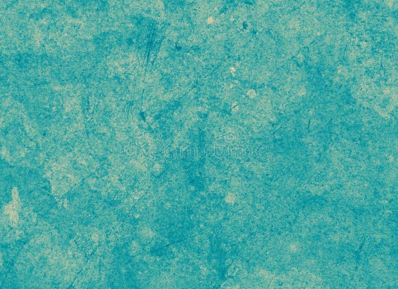 Vieux contexte concret sale grunge rétro d'encre de fond, verte et bleue avec la poussière, pièces eroged, vieux modèle rayé image libre de droits