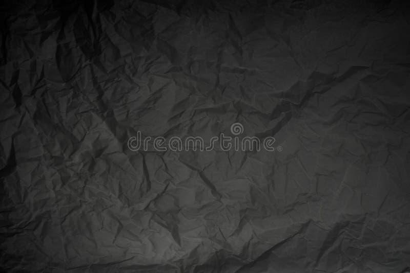 Vieux contexte simple chiffonné de texture de papier d'emballage photos stock