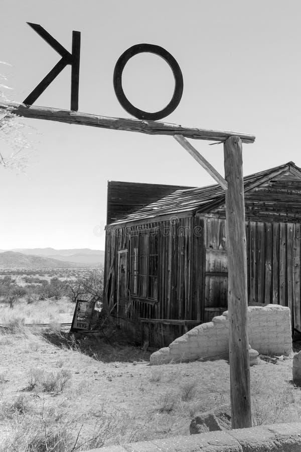 Vieux corral occidental sauvage d'OK de ville en Arizona photo libre de droits