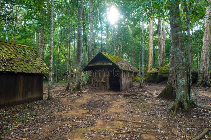 Vieux cottage en parc national de Phu Hin Rong Kla photographie stock libre de droits