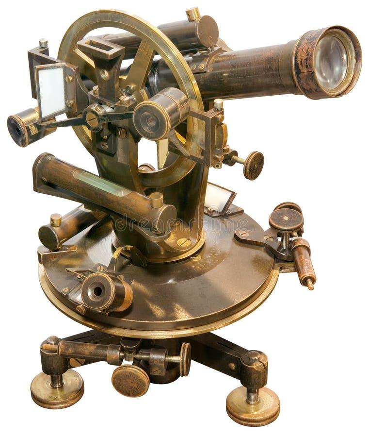 Vieux coupe-circuit de théodolite image libre de droits