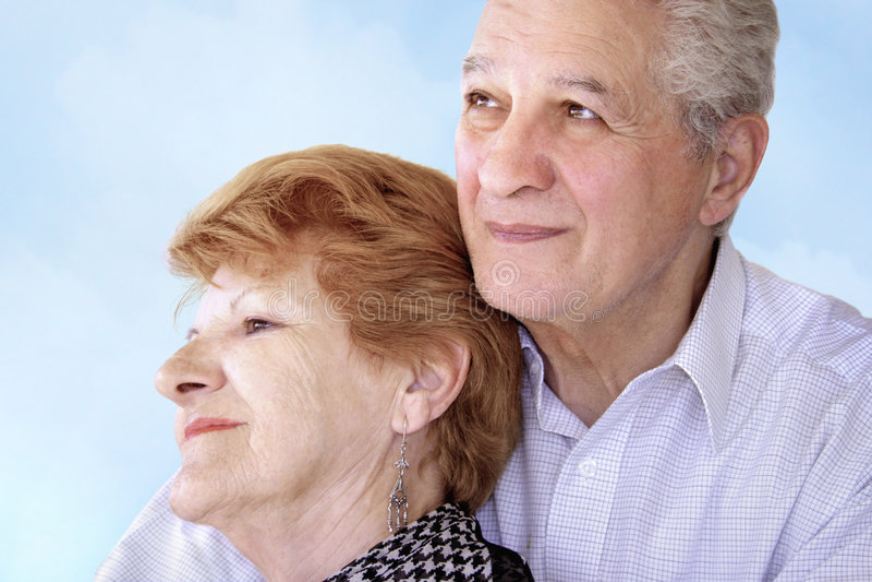 Vieux couples image stock