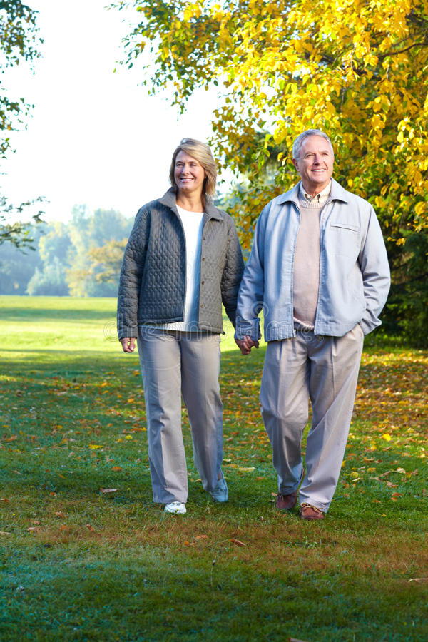 Vieux couples d'aînés images libres de droits