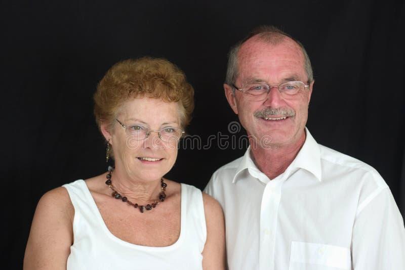 Vieux Couples Heureux (4) Photo libre de droits