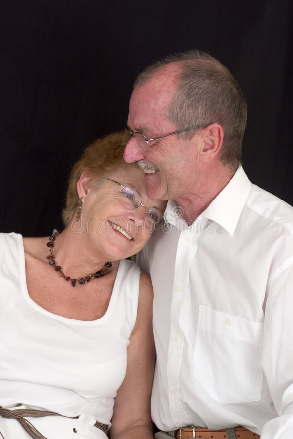 Vieux couples heureux (5) images stock