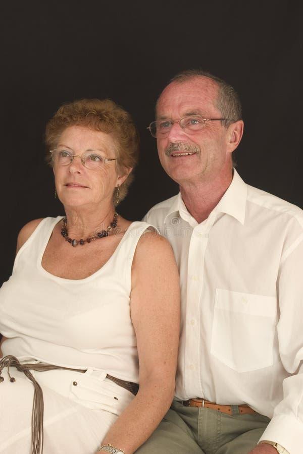 Vieux couples heureux (6) photo stock
