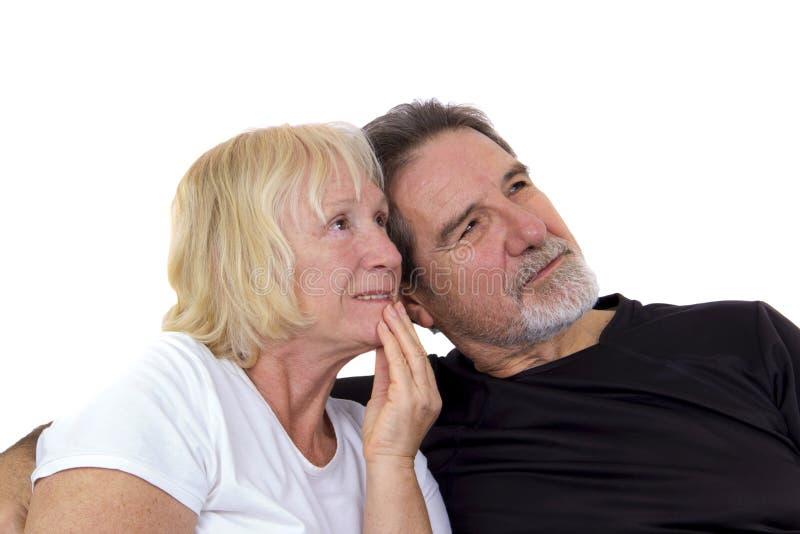 Vieux couples mariés heureusement image libre de droits