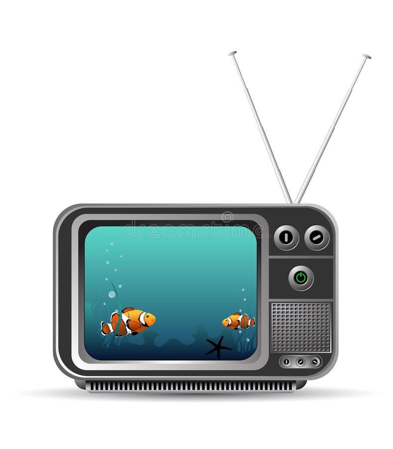 vieux cru de TV illustration libre de droits