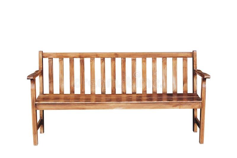Vieux cru en bois vide de chaise sur le fond blanc avec le chemin de coupure image libre de droits
