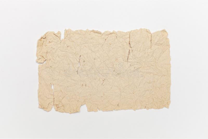 Vieux, cru, r?tro papier d'isolement sur le fond blanc photographie stock