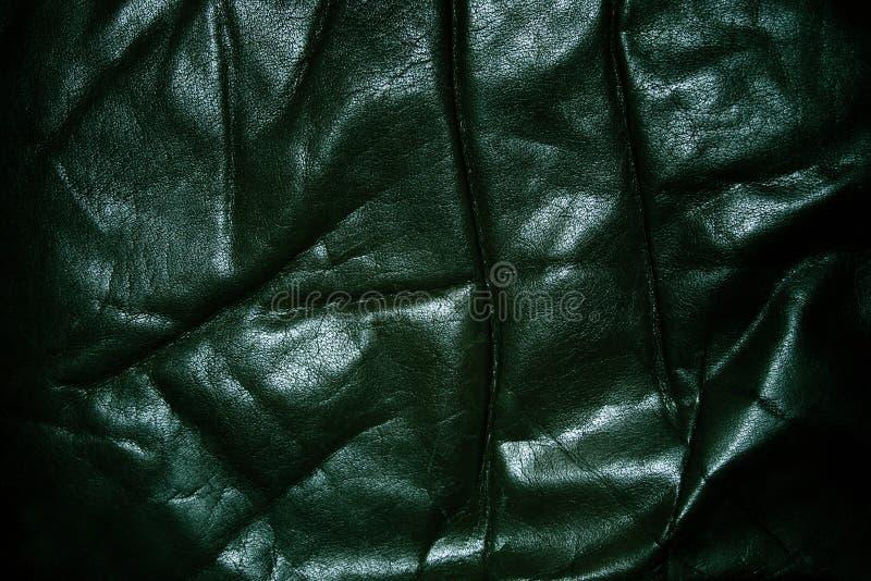 Vieux cuir noir froissé photographie stock