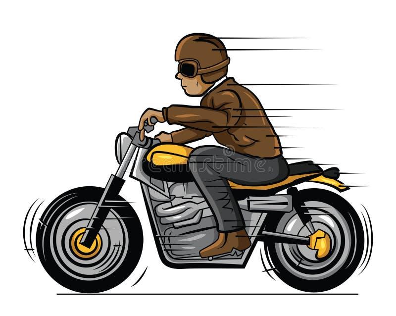 Vieux cycliste illustration de vecteur