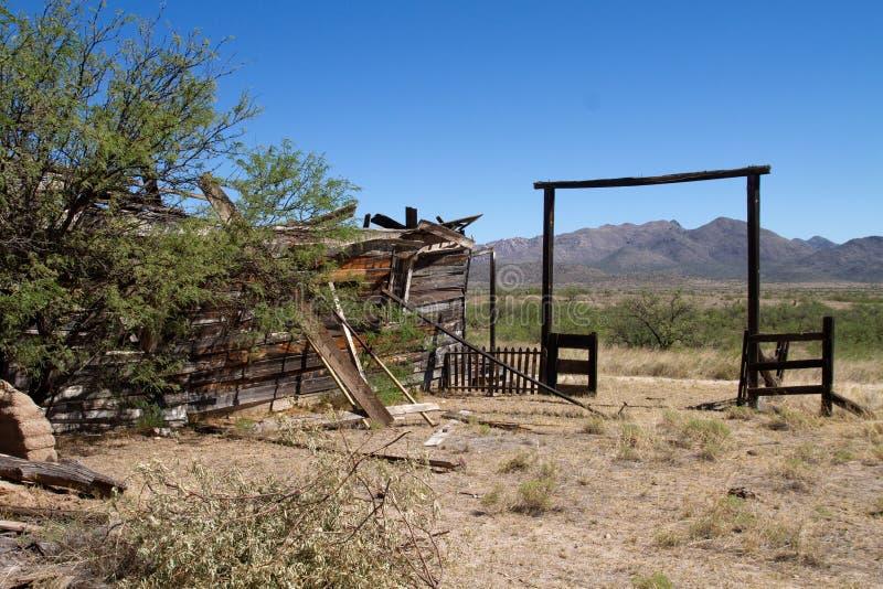 Vieux décor de film occidental sauvage dans le peyotl, Arizona image libre de droits