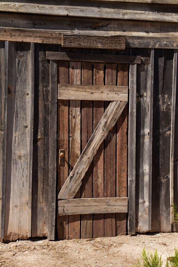 Vieux décor de film occidental sauvage dans le peyotl, Arizona photos stock