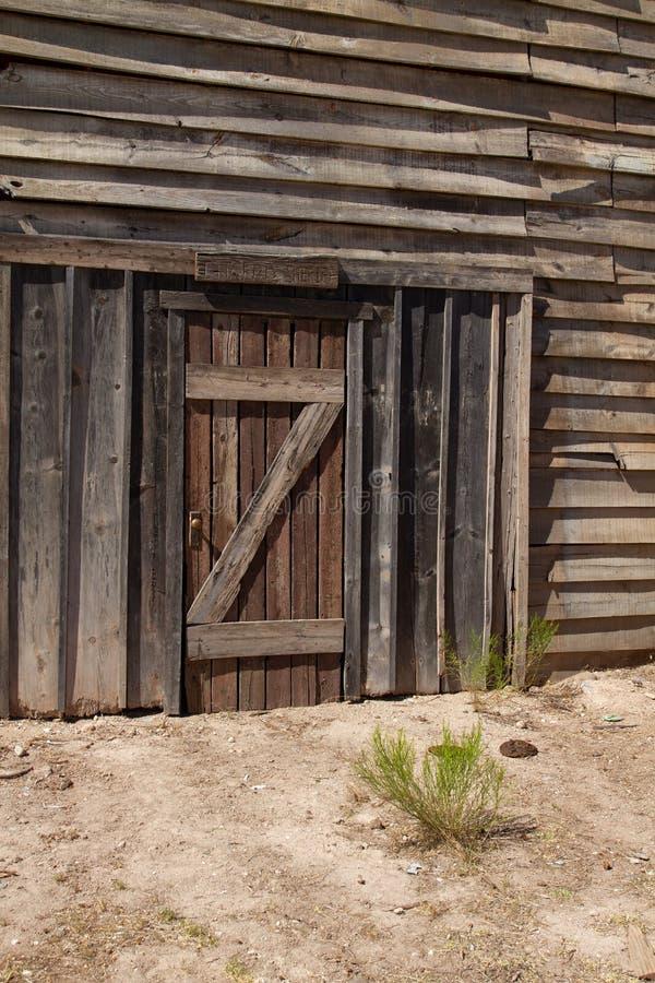 Vieux décor de film occidental sauvage dans le peyotl, Arizona image stock