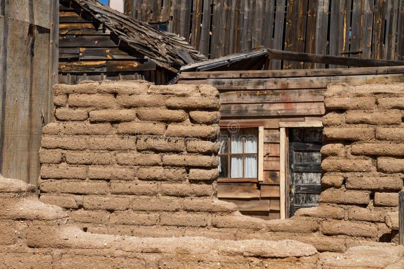 Vieux décor de film occidental sauvage dans le peyotl, Arizona photo stock