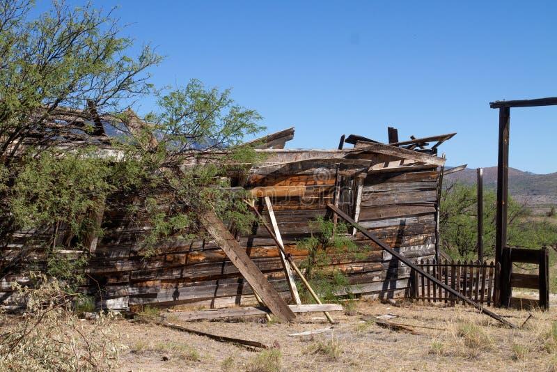 Vieux décor de film occidental sauvage dans le peyotl, Arizona images libres de droits