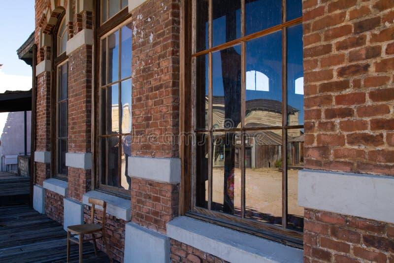 Vieux décor de film occidental sauvage de ville dans le peyotl, Arizona image libre de droits