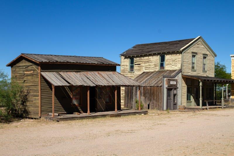 Vieux décor de film occidental sauvage de ville dans le peyotl, Arizona photo stock