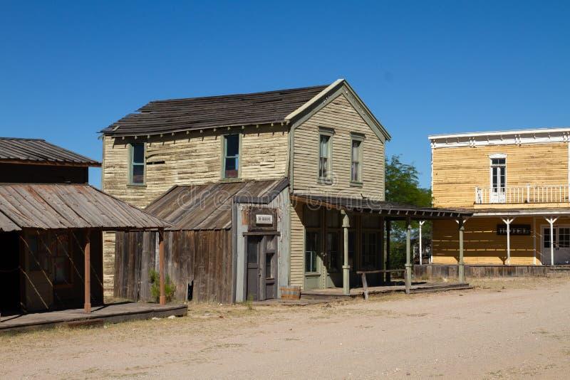 Vieux décor de film occidental sauvage de ville dans le peyotl, Arizona photo libre de droits