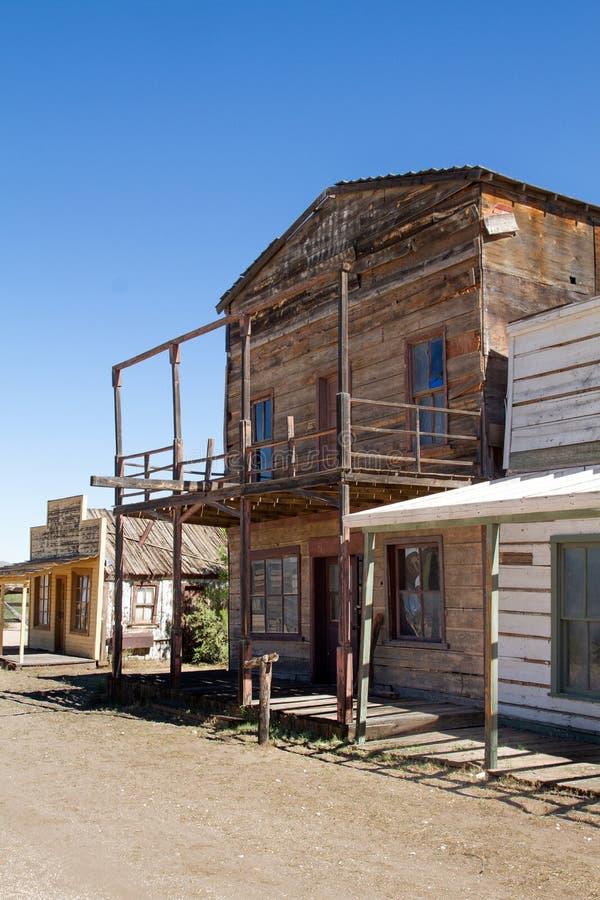 Vieux décor de film occidental sauvage de ville en Arizona photographie stock libre de droits