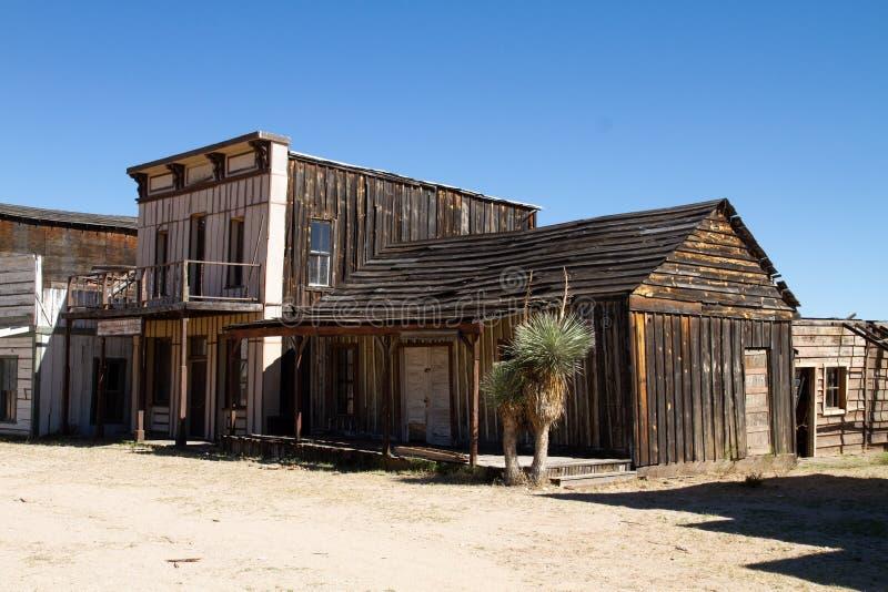 Vieux décor de film occidental sauvage de ville en Arizona photographie stock