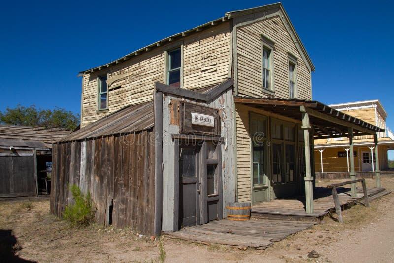 Vieux décor de film occidental sauvage de ville en Arizona images stock