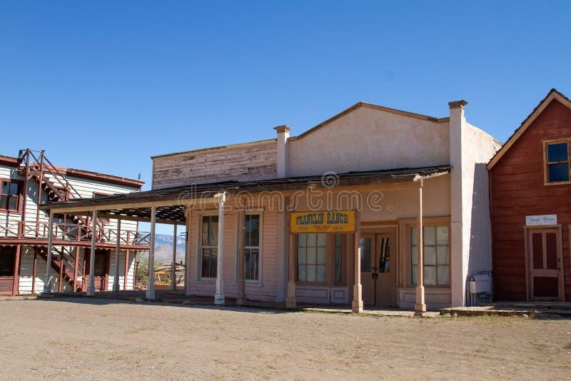 Vieux décor de film occidental sauvage de ville en Arizona images libres de droits
